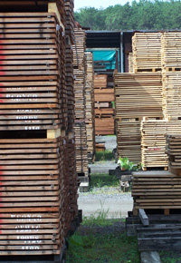 air drying lumber