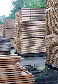 lumber air drying