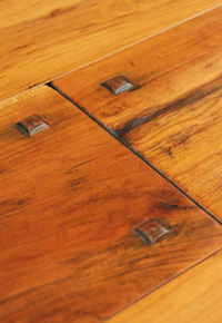Rehmeyer Authentic Hand Scraped Cherry Flooring with Wood Pegs