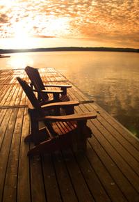 Teak dock