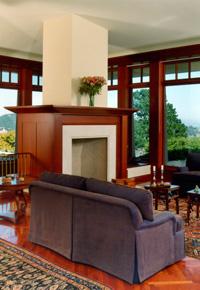 Mahogany windows and trim