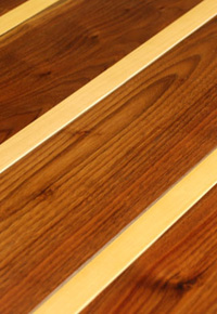 Rehmeyer Pin – Striped Walnut with Hard Maple Feature Strip