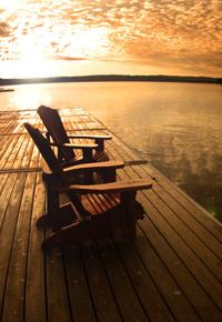 waterfront wood deck
