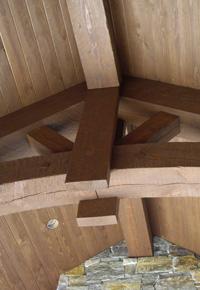 Douglas Fir timber truss roof
