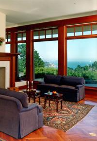 Genuine Mahogany windows & trim
